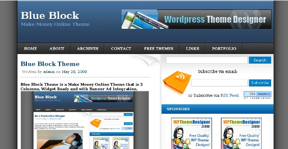 Blue Block WordPress Theme