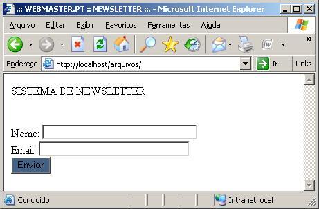 Adesão Newsletter
