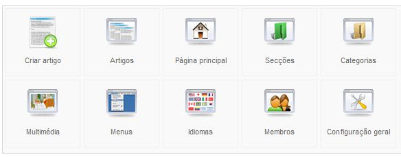 Joomla - Menu Categoria - Categoria em Blogue
