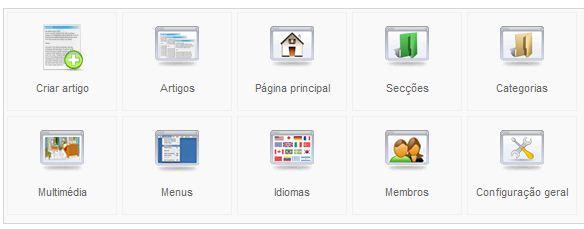 Joomla - Menu Artigos - Secção Em Blogue