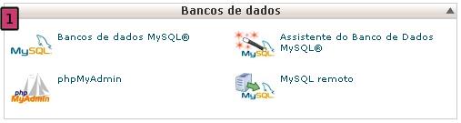 Gestor De Base De Dados MySQL no cPanel