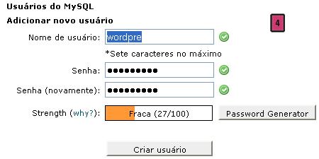 Usuário MySQL