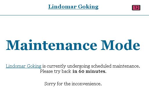 Blog Em Maintenance Mode