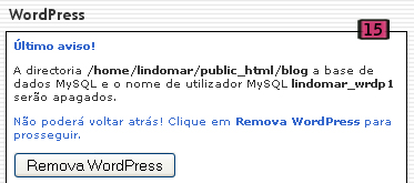 Remover WordPress