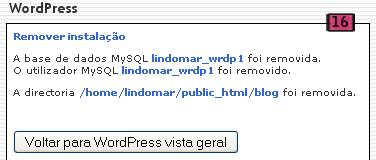 WordPress Removido