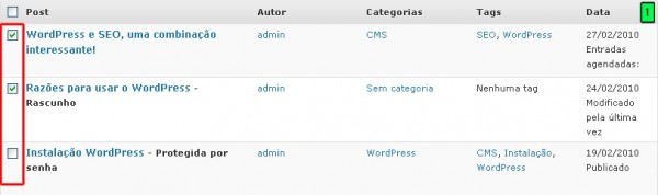 WordPress – Administrando Os Posts Parte 2