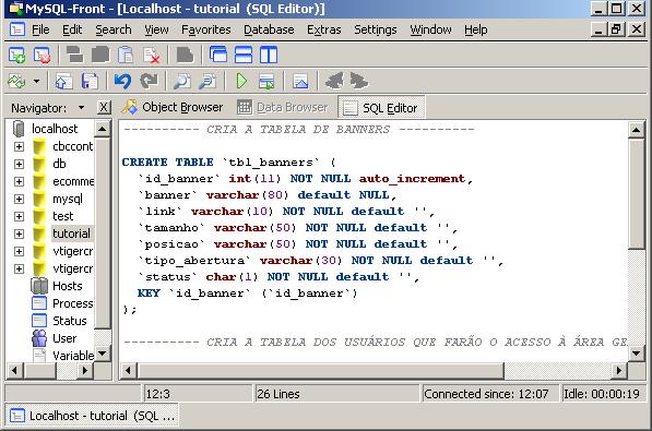 Sistema gerenciador de banners em php e mysql - Porta sql server ...