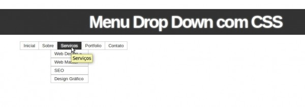 Drop Down Menu Em CSS