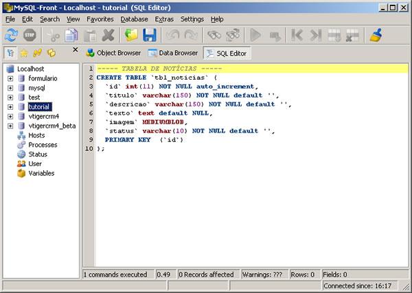 MySQL - Trabalhando com Blob Fields