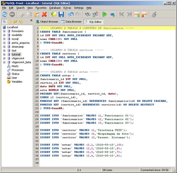 MySQL - Integridade Referencial