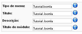 Menu Joomla
