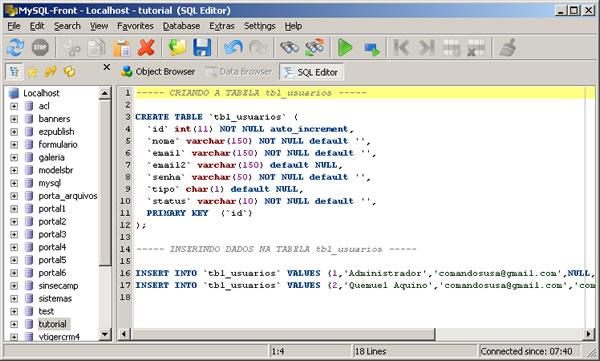 Exemplos Práticos De MySQL