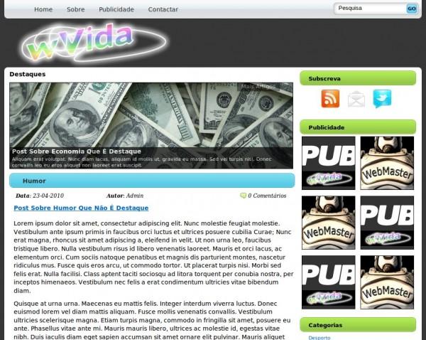 WordPress Theme wVida Grátis