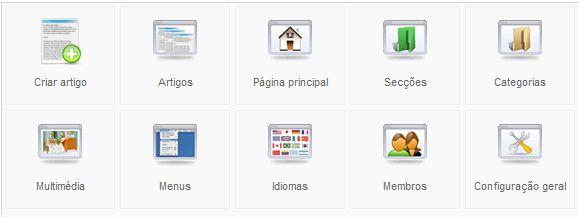 Joomla Menu - Embrulho Web E Hiperligação Externa