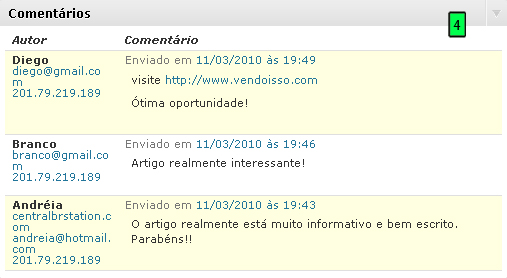Comentários No WordPress