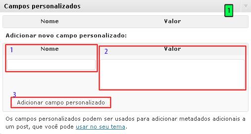 campos personalizados no wordpress