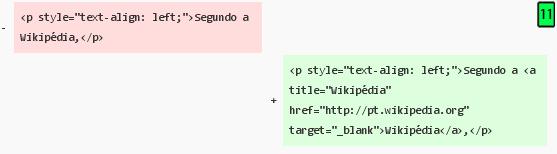 exclusão ou adição de um bloco de código xHTML