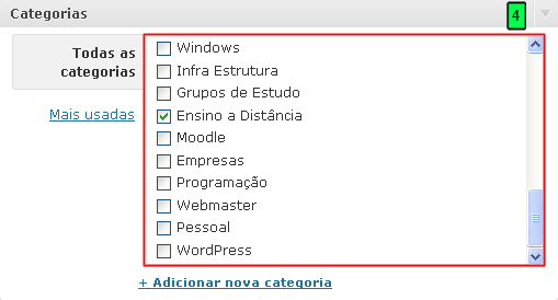 Categorias Dos Links