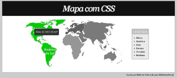 mapa interativo com css