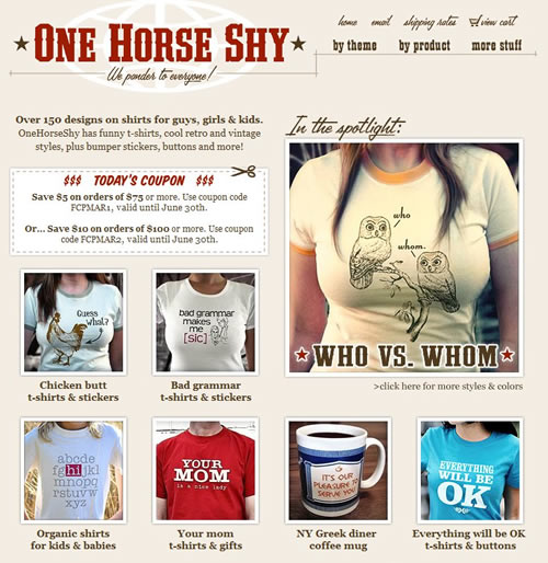 loja online one horse shy