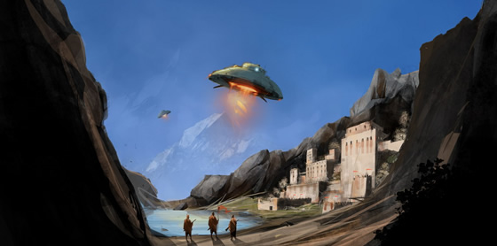 Saucers over Shangri La by sketchboook