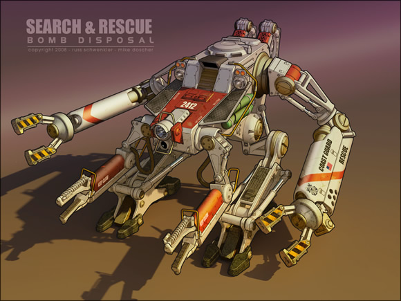 Search and Rescue Mech by dangeruss