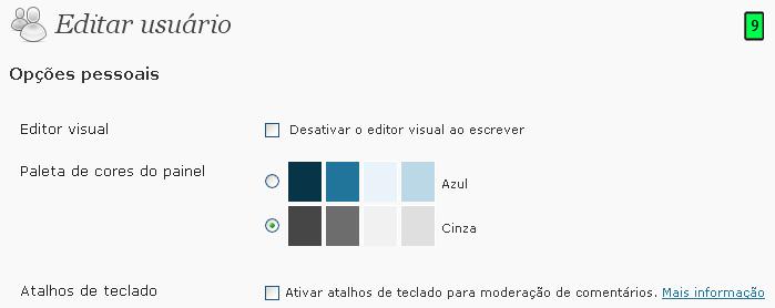 editar usuário