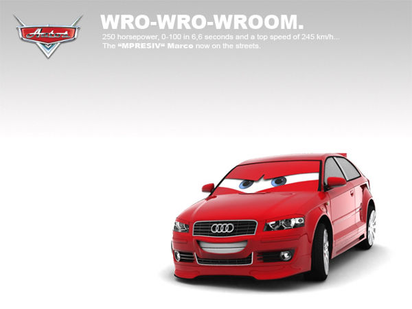 3D Car Toon Audi A3 by Torqer