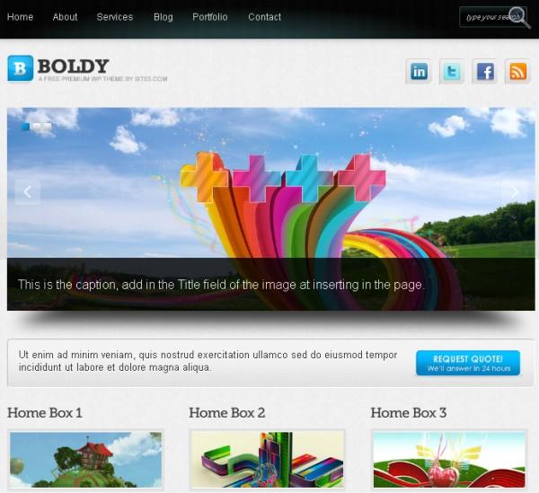 wordpress theme Boldy