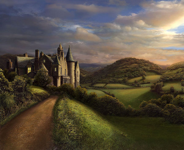 Castle matte painting by rebekahlynn