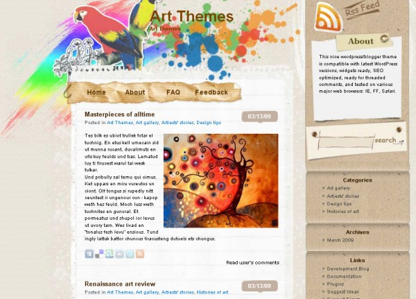 WordPress Theme Doodle