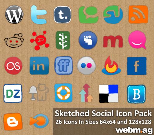Exclusive WebMag Social Media Icon Pack
