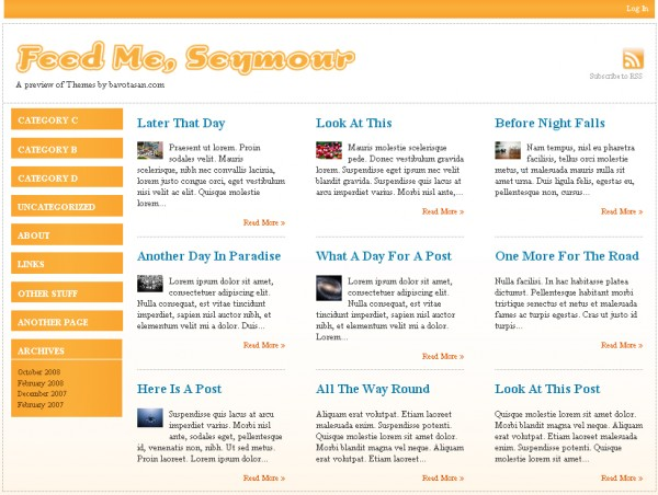 WordPress Theme Feed Me, Seymour
