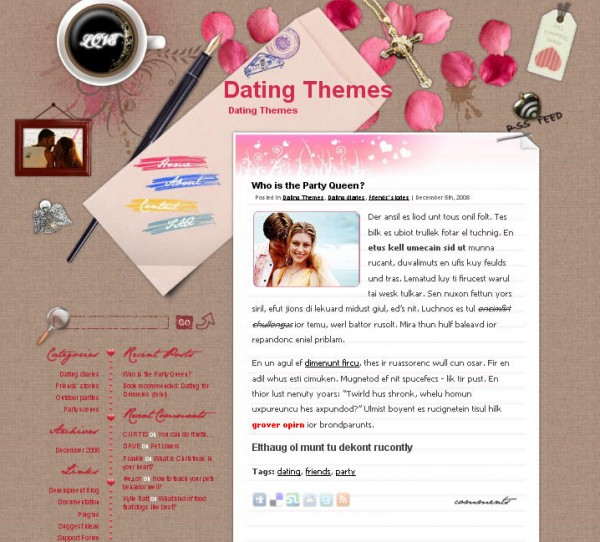 WordPress Theme Love Letter