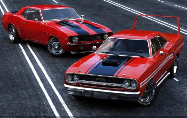 Muscle cars by Missionaryrdr