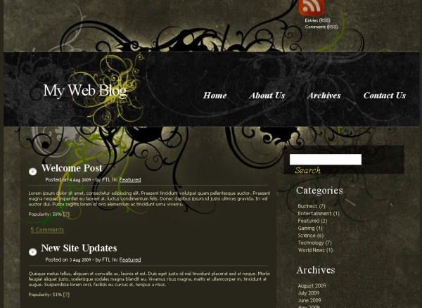 WordPress Theme MysticGrunge
