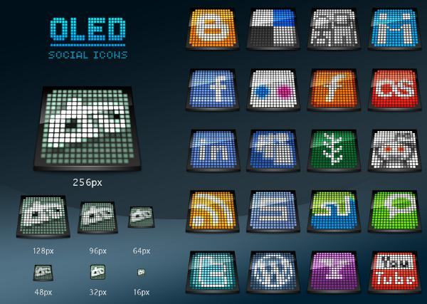 OLED social icons by arrioch
