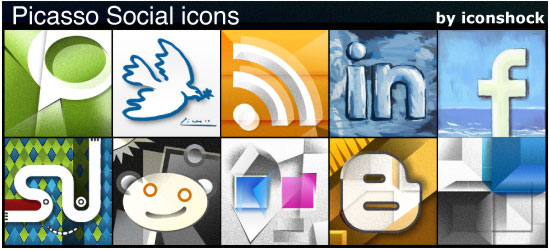 Picasso Social Icons