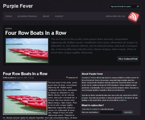 WordPress Theme Purple Fever