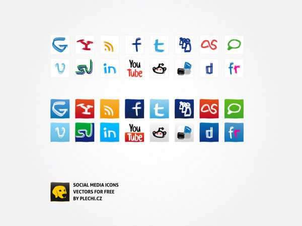 Social Media Icons by plechi