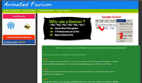 animated favicon