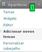 área de instalação de novos temas do WordPress