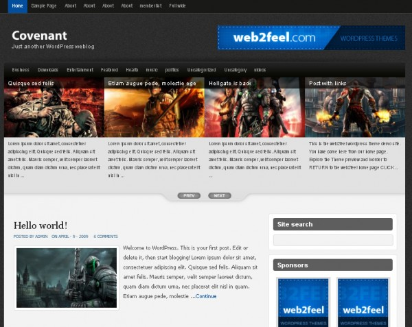 WordPress Theme Covenant