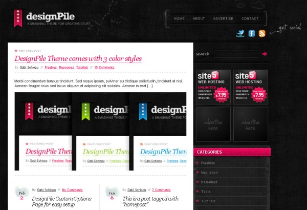 WordPress Theme Design Pile