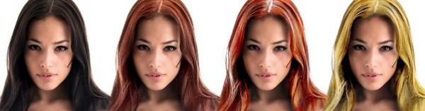 diferentes cores cabelo