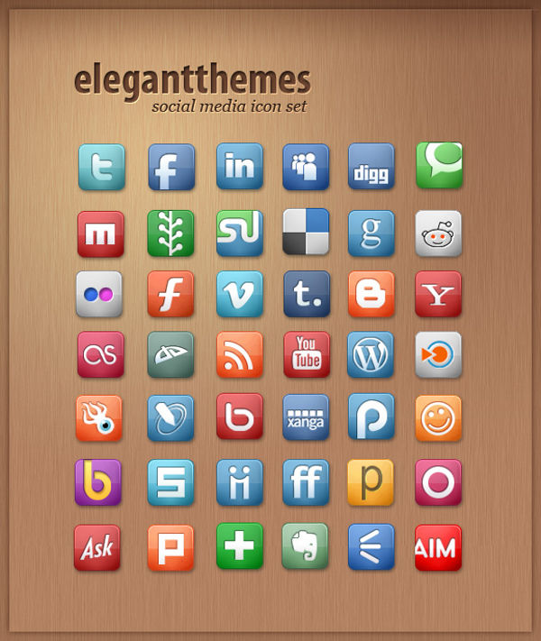 elegantthemes social media icon set