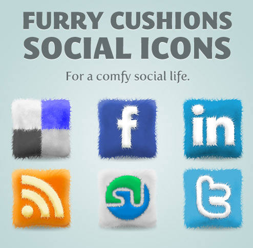 Furry Cushions Social MEdia