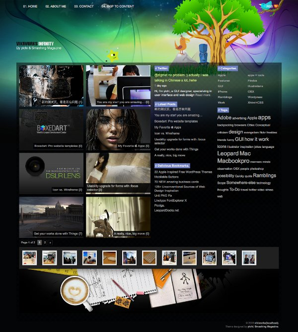 WordPress Theme Infinity