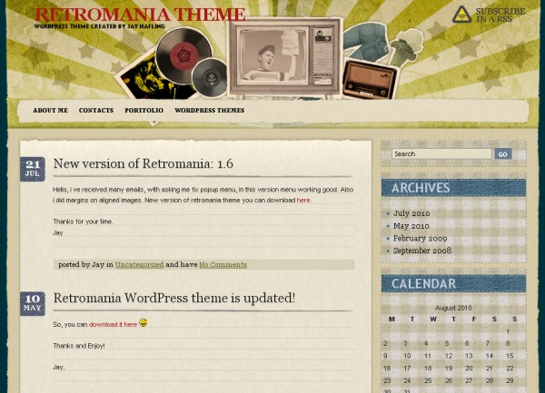 WordPress Theme Retromania
