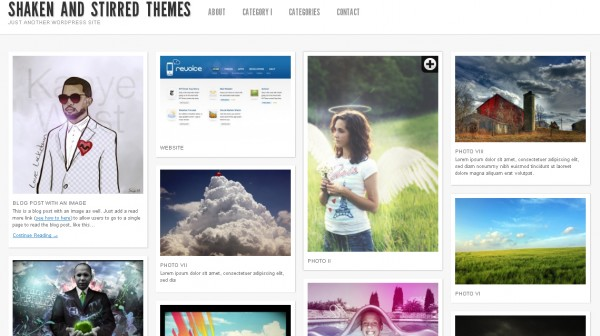 WordPress Theme Shaken Grid